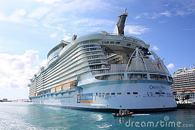 Aqua Theater at the Oasis of the Seas Editorial Image