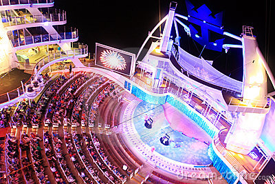 Aqua Theater onboard Oasis Of the Seas Editorial Stock Photo