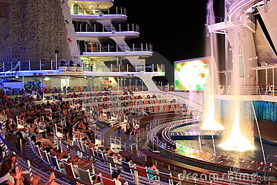 Aqua Theater onboard Oasis Of the Seas Editorial Image