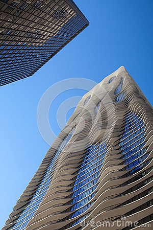 The Aqua Tower in Chicago. The Editorial Stock Image