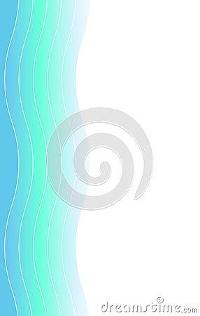 Aqua Waves Swoosh Border