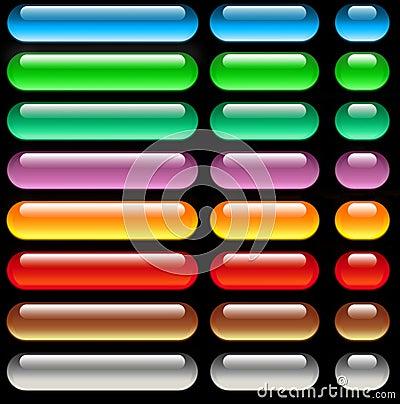 Aqua web buttons