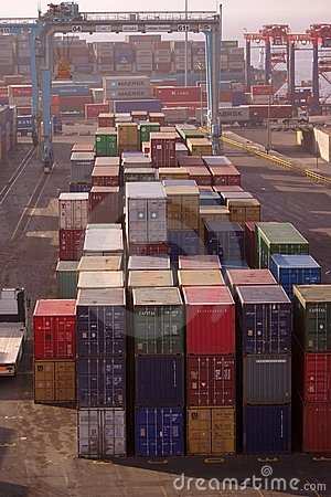 Aquaba busy container port Editorial Photography