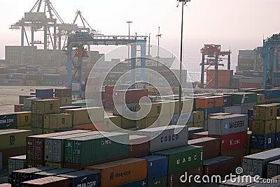 Aquaba busy port Editorial Stock Photo
