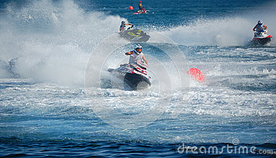 Aquabike world championship 2012 - runbout gp1 Editorial Photo