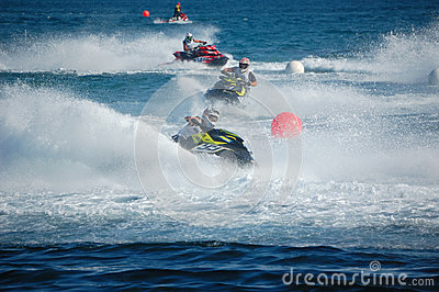 Aquabike world championship 2012 - runbout gp1 Editorial Stock Photo