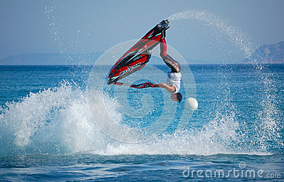 Aquabike world championship 2012Freestyle Editorial Stock Photo