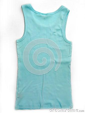 Aquablueärmlös tröja