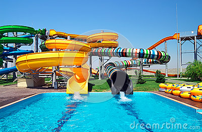 Aquapark sliders