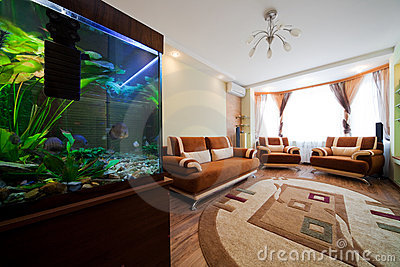 Aquarium in a room