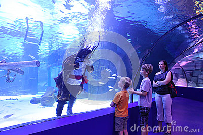 Aquarium Tunnel Editorial Stock Photo