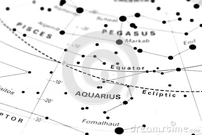 Aquarius on star map