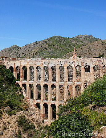 Aqueduct on Costa del Sol. Spain