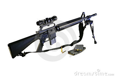AR-15 A2 Assault Rifle and Ammo