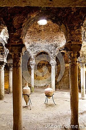 Arab baths in Majorca old city