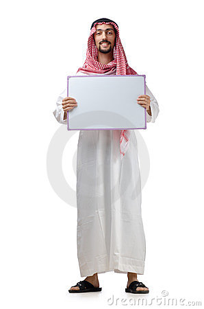Arab with blank message