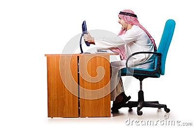 Arab businessman in business