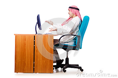 Arab businessman in business concept
