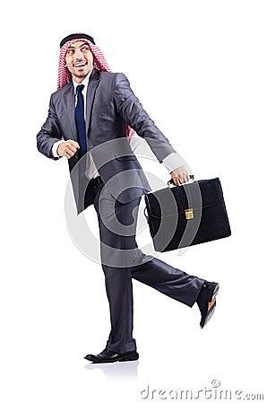 Arab businessman isolated