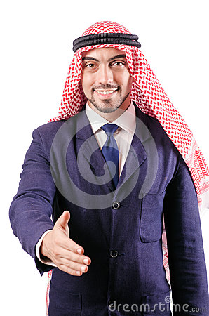 Arab businessman isolated