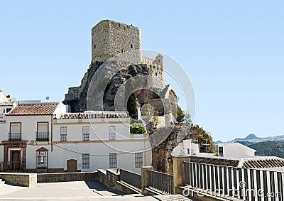 Arab Castle tower of Olvera