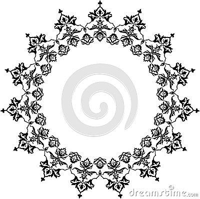 Arab circle pattern
