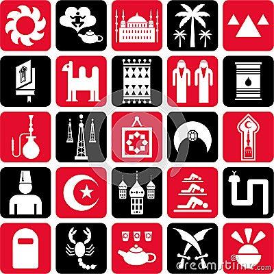 Arab countries icons