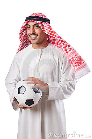 Arab in football concept