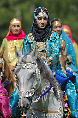 Arab horse and woman Editorial Photo
