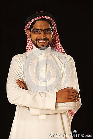 Arab male model standing