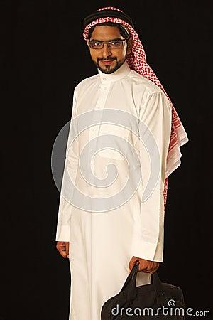 Arab male traveler