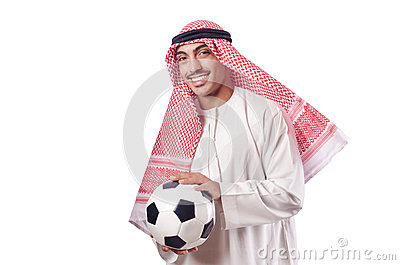 Arab man with football