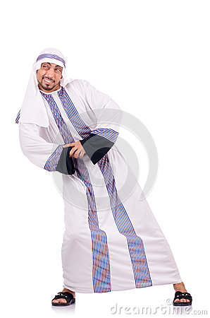 Arab man isolated