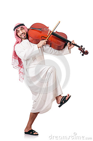 Arab man playing