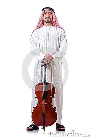 Arab man playing cello