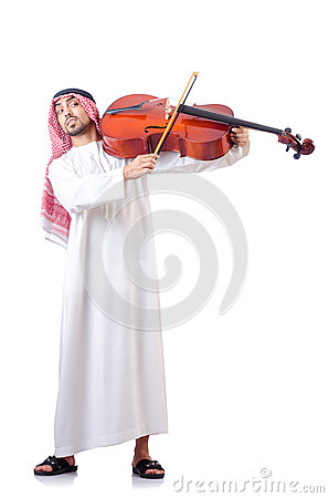 Arab man playing cello