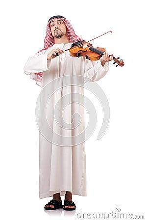 Arab man playing violin