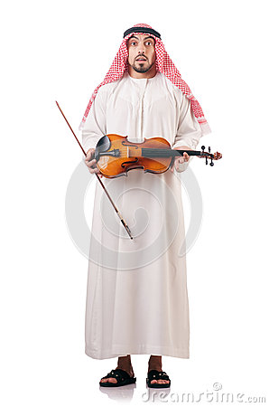Arab man playing violin
