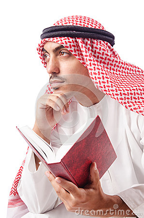 Arab man praying