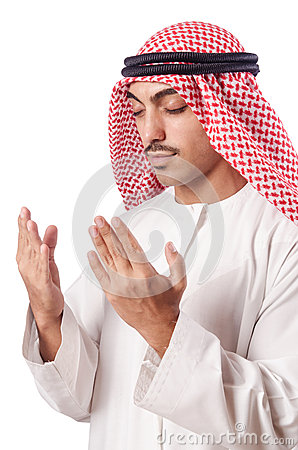 Arab man praying