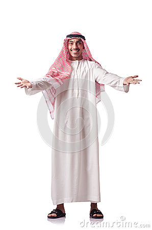 Arab man  on white