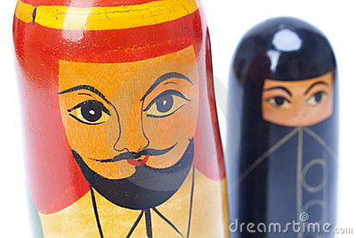 Arab Man and Woman Nesting Dolls