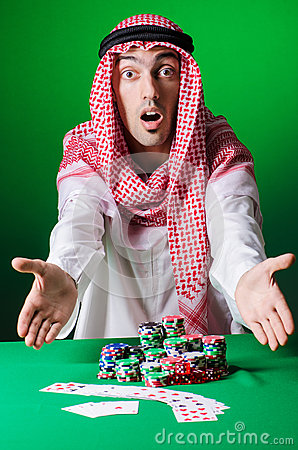 Arab playing in casino