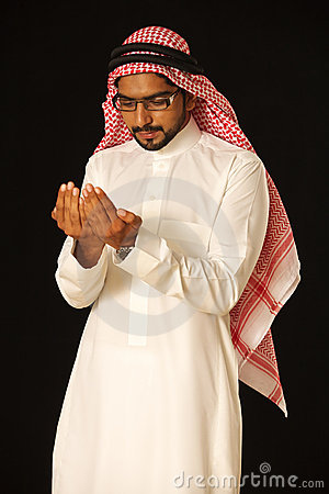 Arab praying