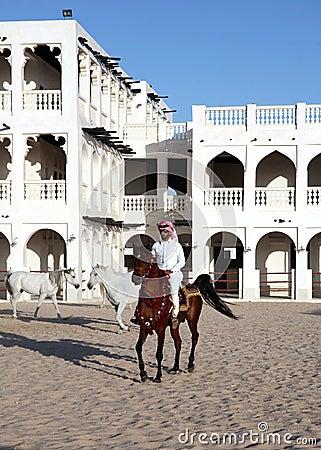 Arab rider vertical Editorial Stock Photo