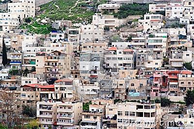 Arab Silwan village in East Jerusalem