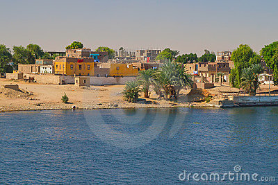 Arab village on the banks of the Nile