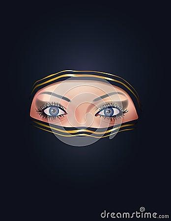 Arab woman face