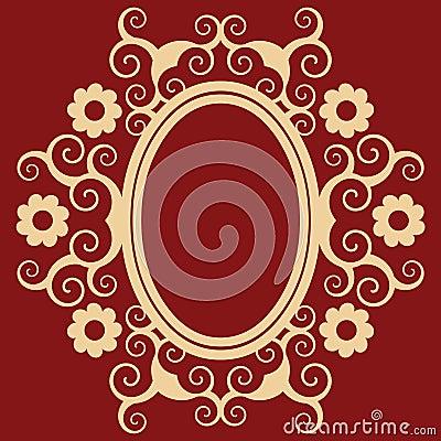 Arabesque floral frame