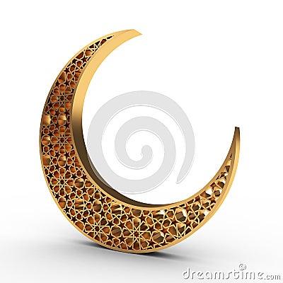 Free Arabesque Moon Royalty Free Stock Photo - 40850225